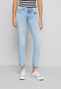 Pepe Jeans - KATHA - Jeansy Slim Fit - light-blue denim - 0