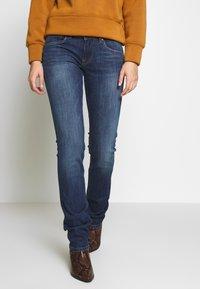 Pepe Jeans - HOLLY - Vaqueros rectos - dark-blue denim - 0