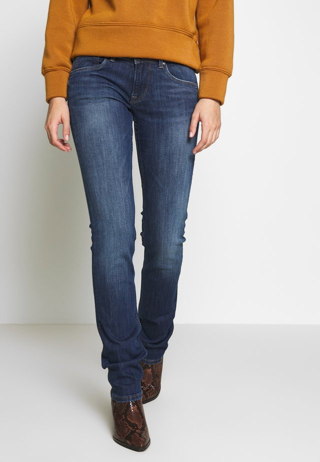 HOLLY - Straight leg -farkut - dark-blue denim