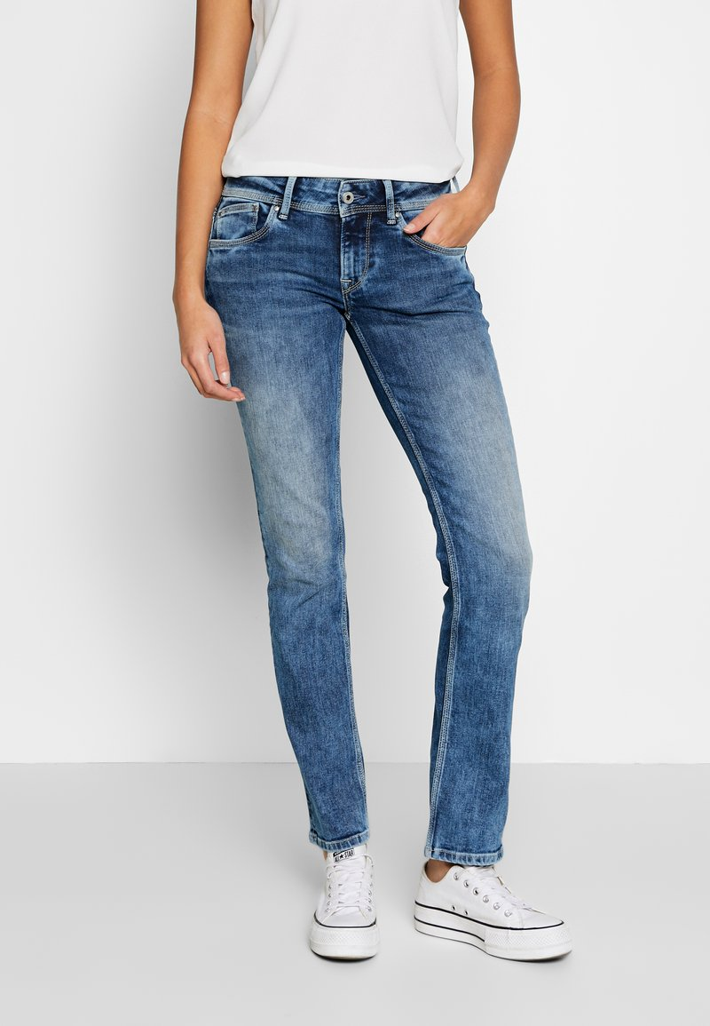 Pepe Jeans - HOLLY - Straight leg jeans - stone blue denim