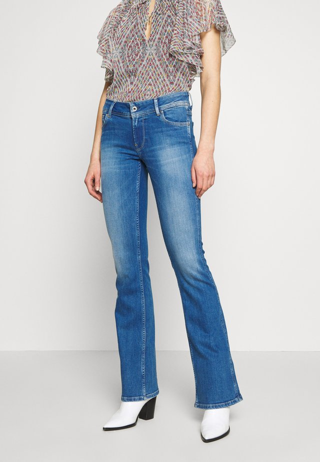 NEW PIMLICO - Flared Jeans - blue denim