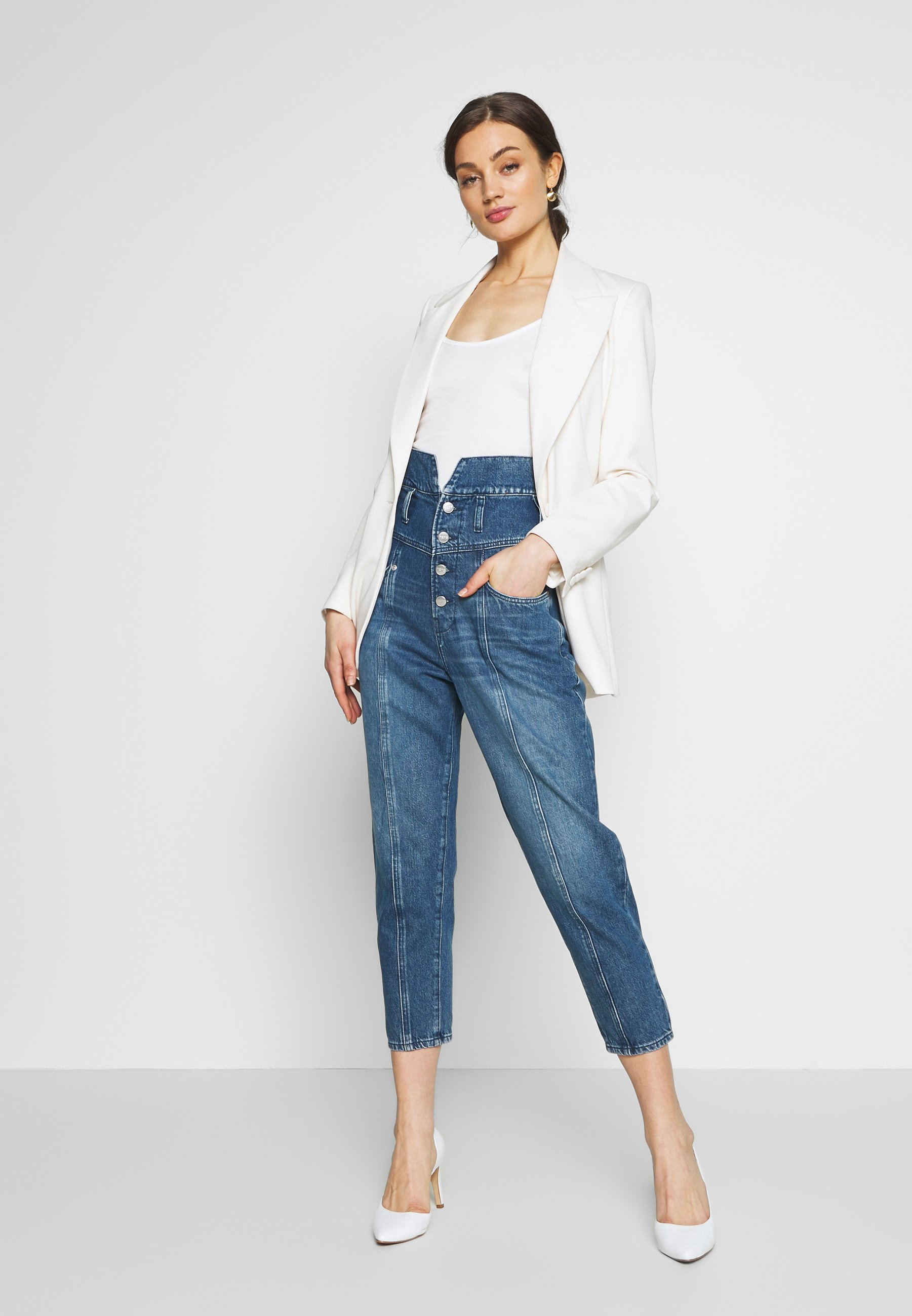 Pepe Jeans WYNNE - Jeansy Relaxed Fit - blue denim