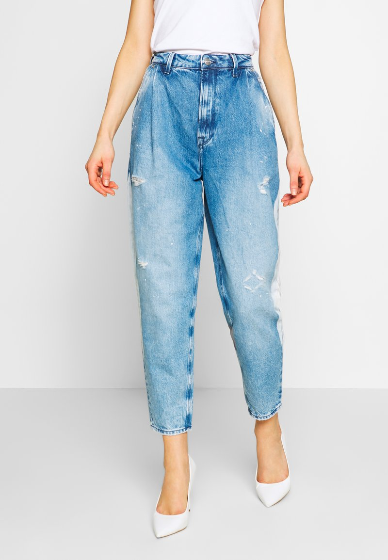 Pepe Jeans - AURORA PAINT - Jeansy Relaxed Fit - blue denim