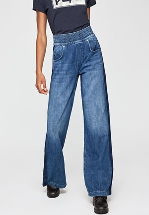 MARIE - Flared Jeans - blue denim