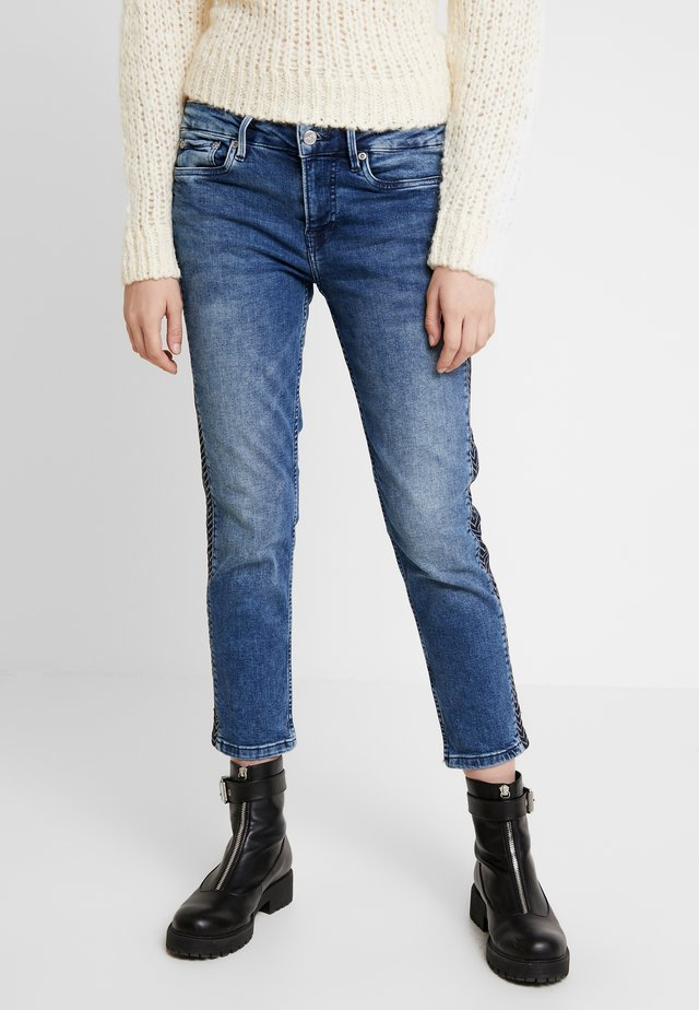 JOLIE ARROW - Straight leg jeans - dark blue denim