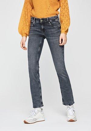 SATURN - Slim fit jeans - black denim