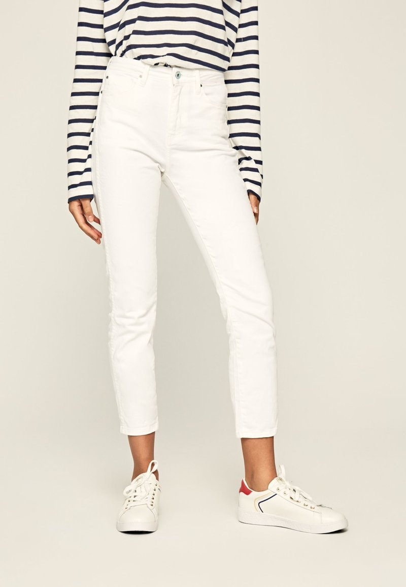 Pepe Jeans - DION - Jeansy Slim Fit - white