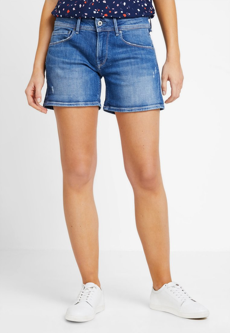 Pepe Jeans - SIOUXIE - Jeans Shorts - 000denim
