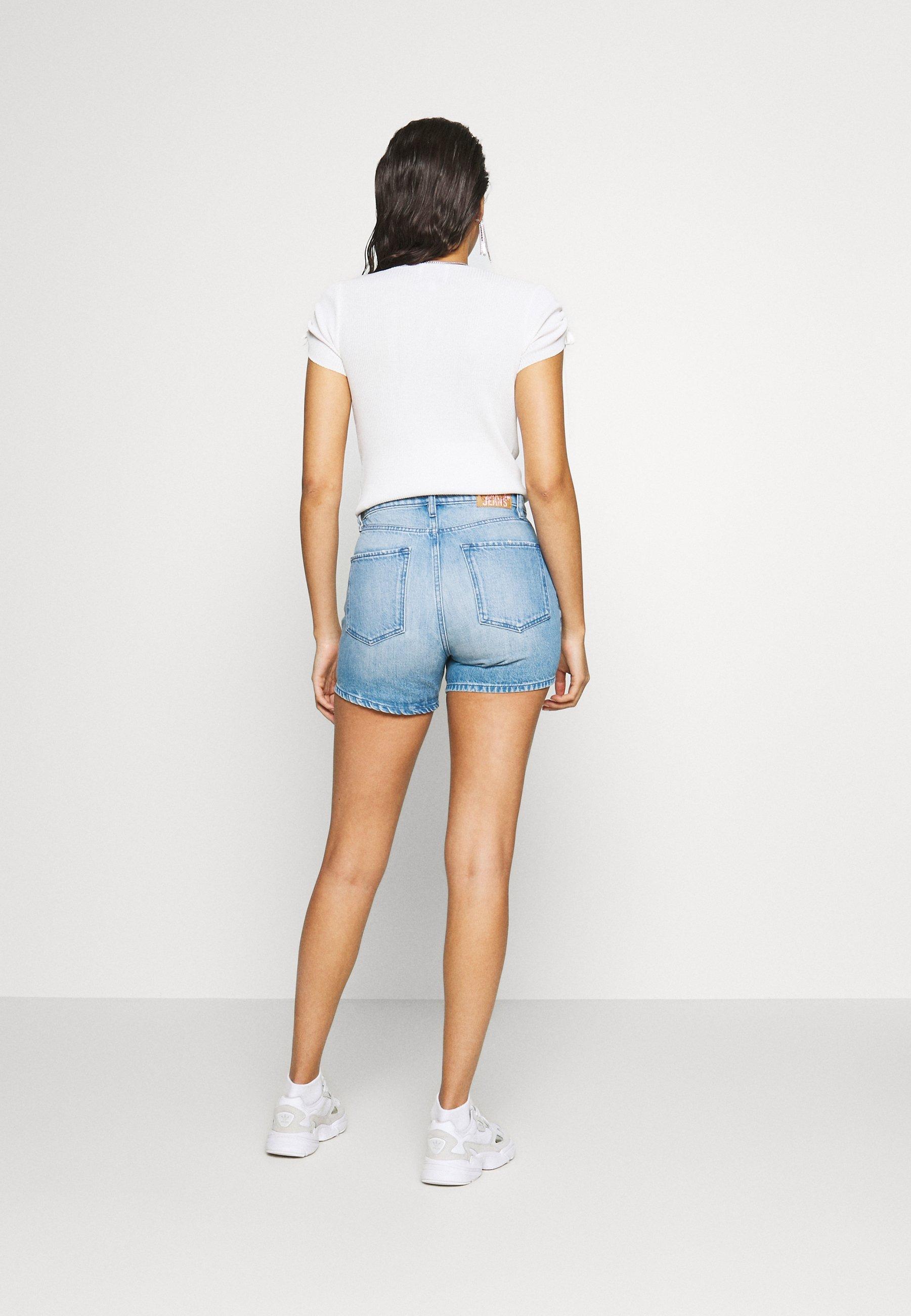 Pepe Jeans DUA LIPA x PEPE JEANS - Szorty jeansowe - light-blue denim