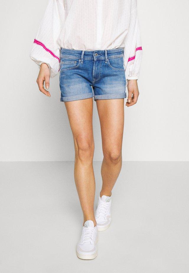 SIOUXIE - Szorty jeansowe - blue denim