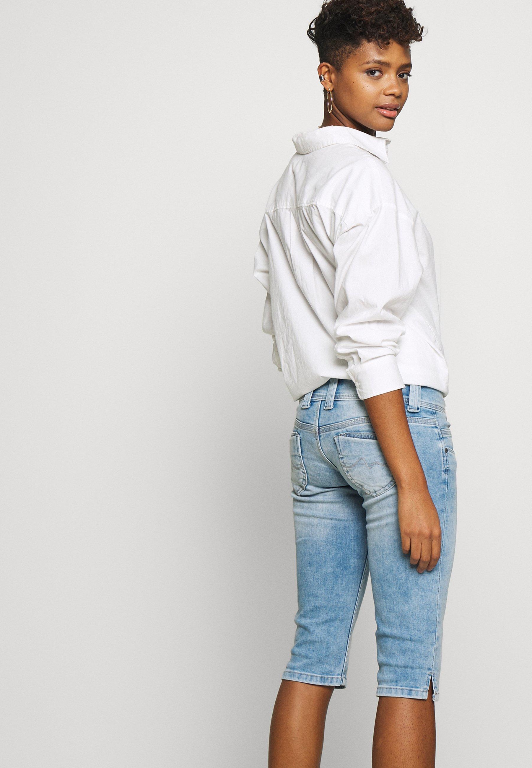 Pepe Jeans VENUS CROP - Szorty jeansowe - denim