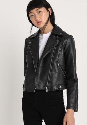 OLGA - Veste en similicuir - black