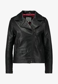 Pepe Jeans - POSSEY - Imitatieleren jas - black - 4