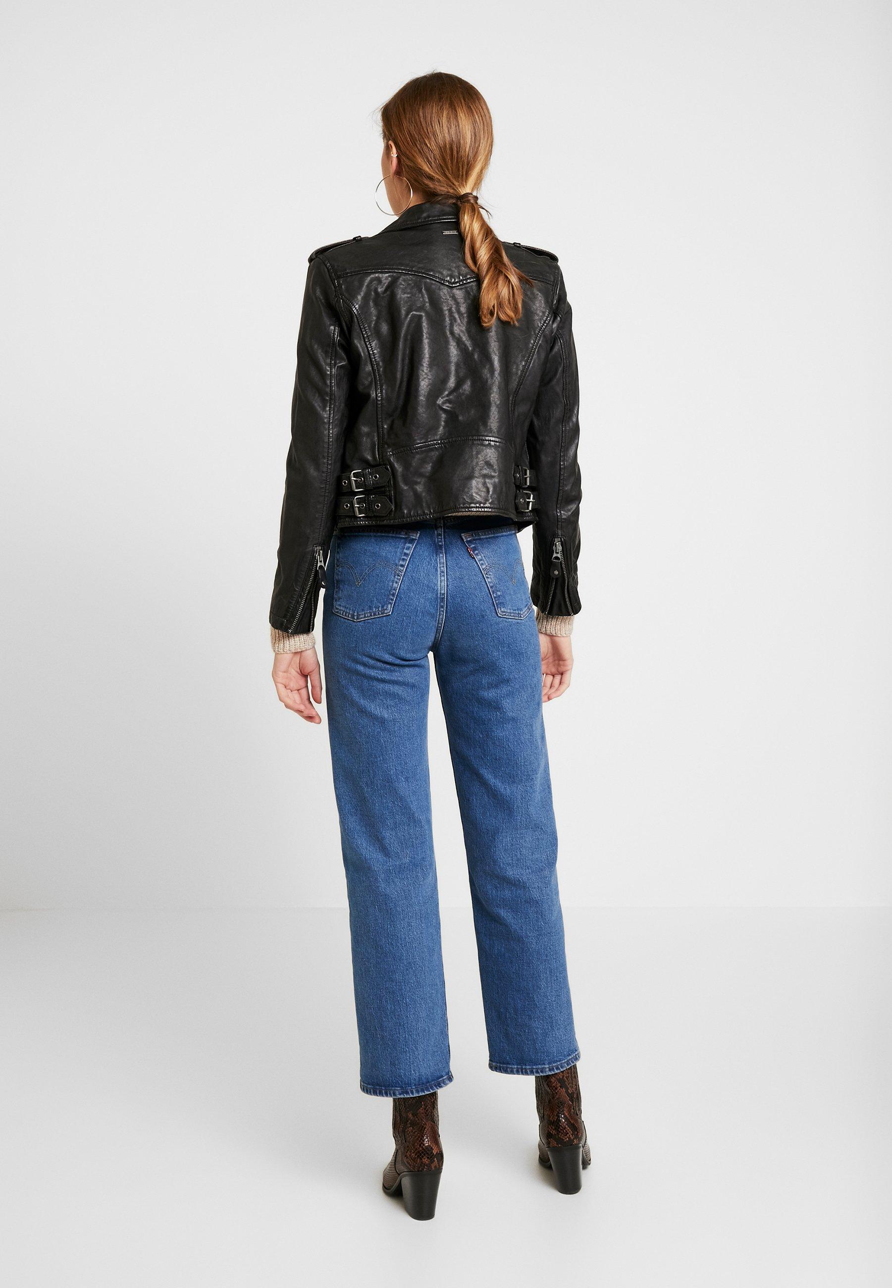Pepe Jeans BERA - Imitert skinnjakke - black