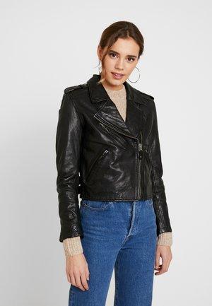 BERA - Veste en cuir - black