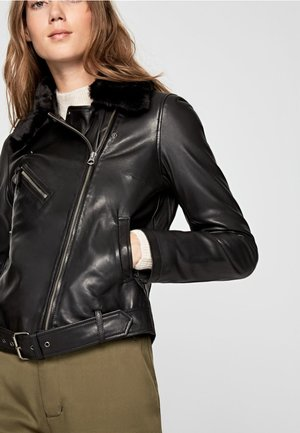 MARIAH - Leather jacket - black