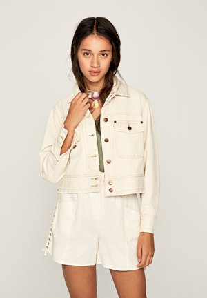 TIFFANY ECRU - Denim jacket - beige
