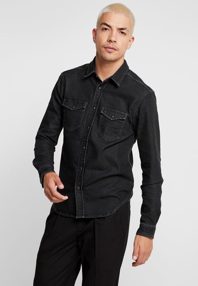 JEPSON - Camisa - black denim