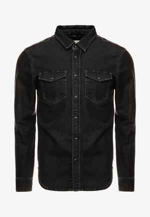 JEPSON - Shirt - black denim