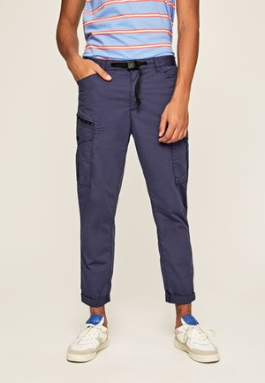 KEYS EXPEDIT  - Cargo trousers - alt blau