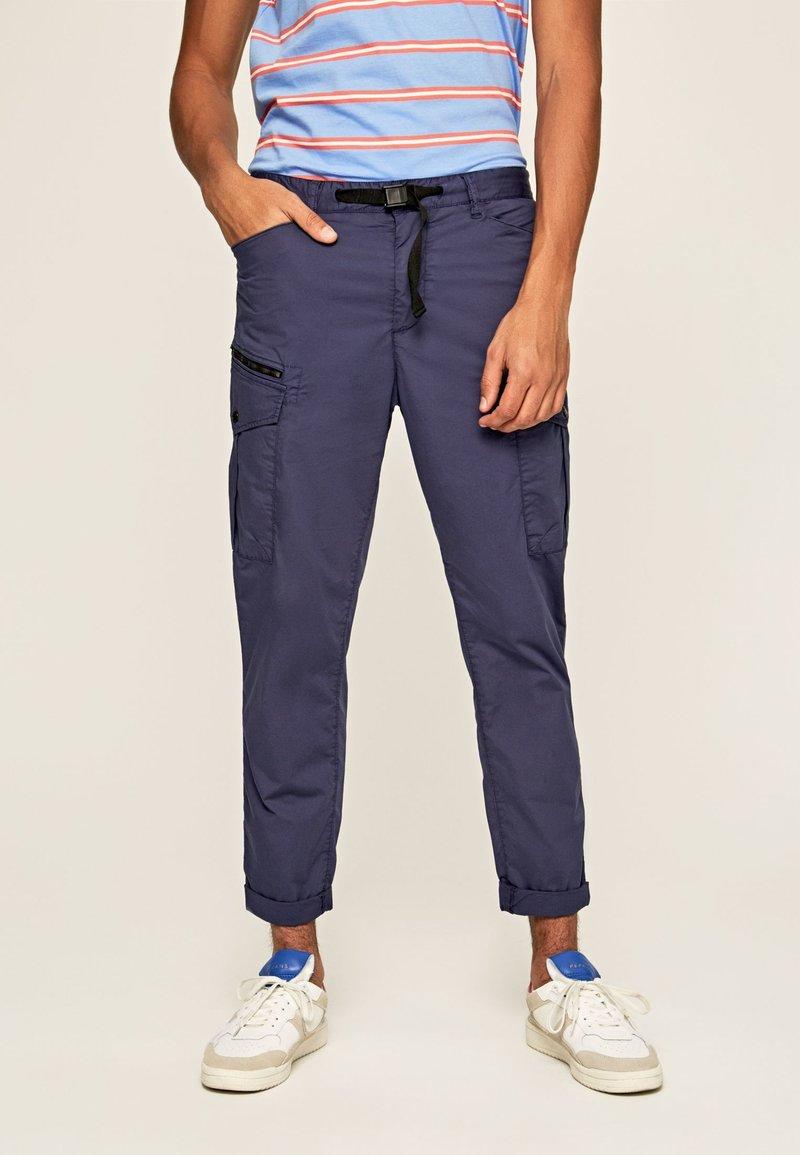 Pepe Jeans - KEYS EXPEDIT  - Bojówki - alt blau