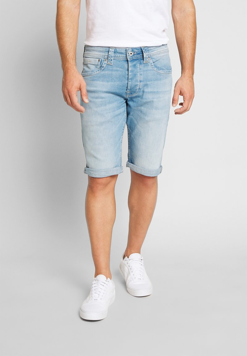 Pepe Jeans - CASH SHORT - Szorty jeansowe - light-blue denim