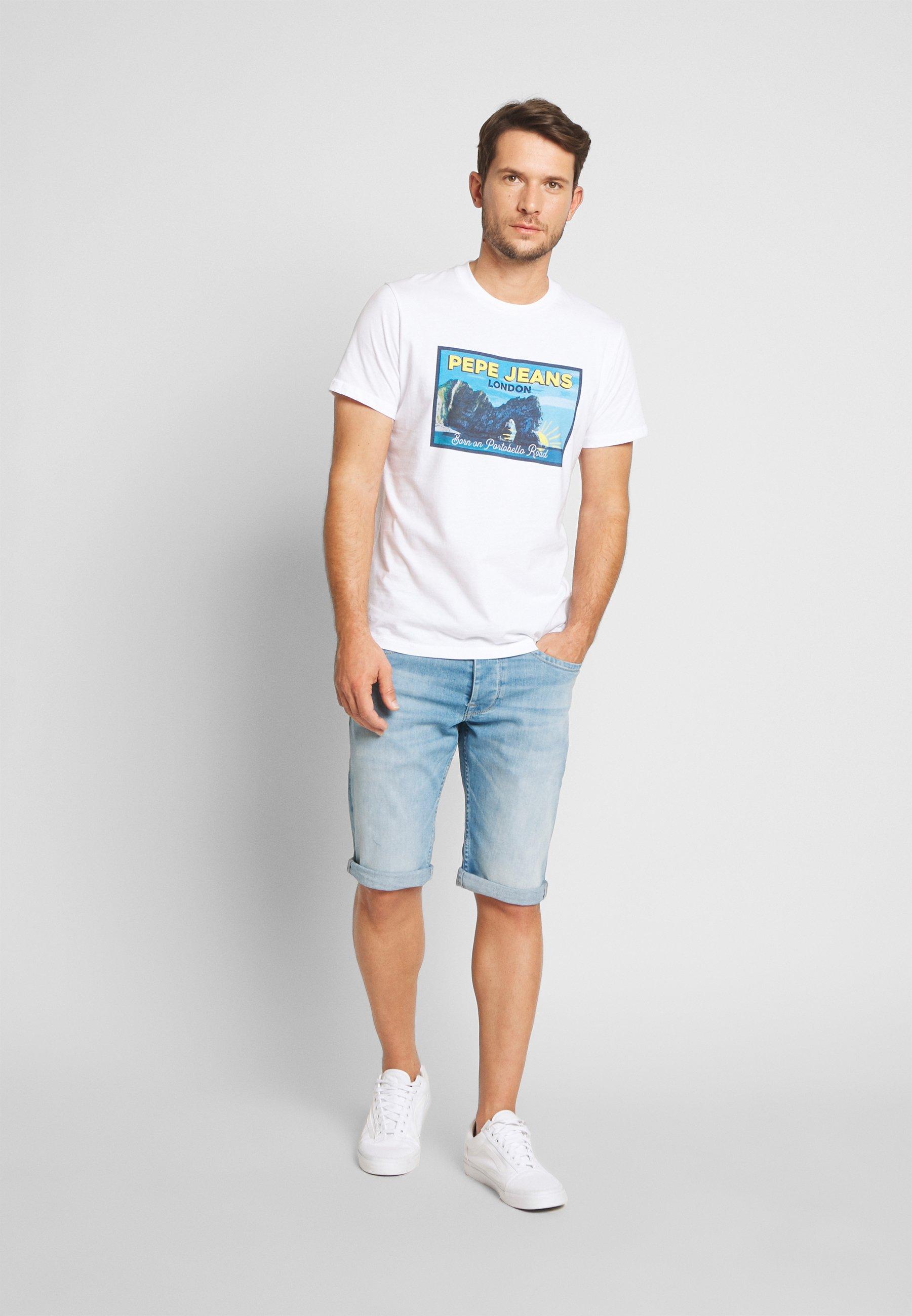 CASH SHORT Jeansshort light blue denim