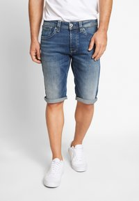 Pepe Jeans - CASH SHORT - Szorty jeansowe - dark-blue denim - 2