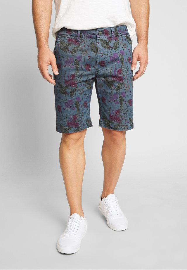 MC QUEEN FLORAL - Shorts - blue