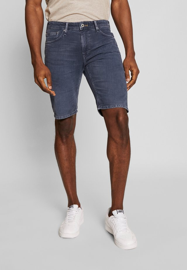 STANLEY - Denim shorts - deep sea