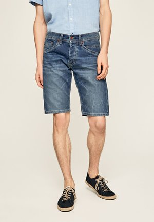 TRACK - Denim shorts - blue denim