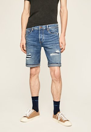 STANLEY SHORT DARN - Short en jean - blue denim
