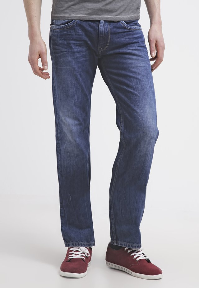 KINGSTON ZIP - Vaqueros rectos - blue