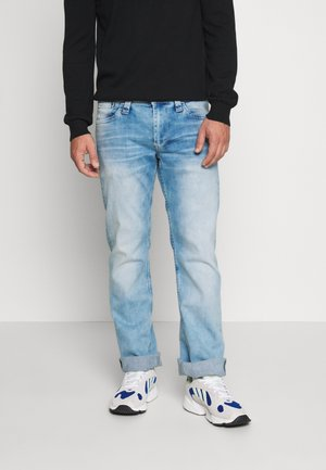 KINGSTON ZIP - Straight leg jeans - bleach