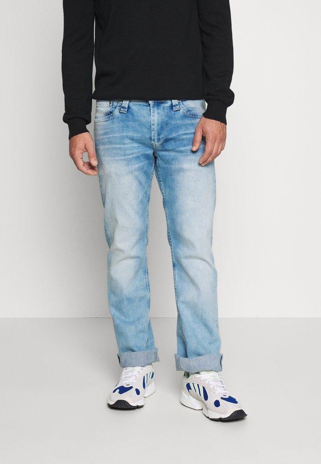 KINGSTON ZIP - Jeans straight leg - bleach