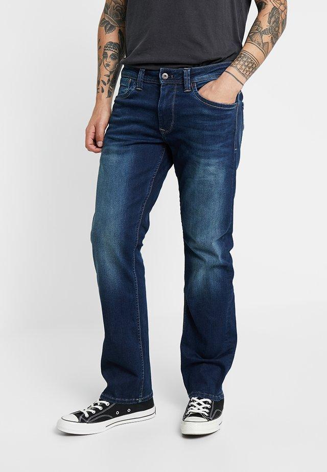 KINGSTON  - Straight leg -farkut - dark-blue denim