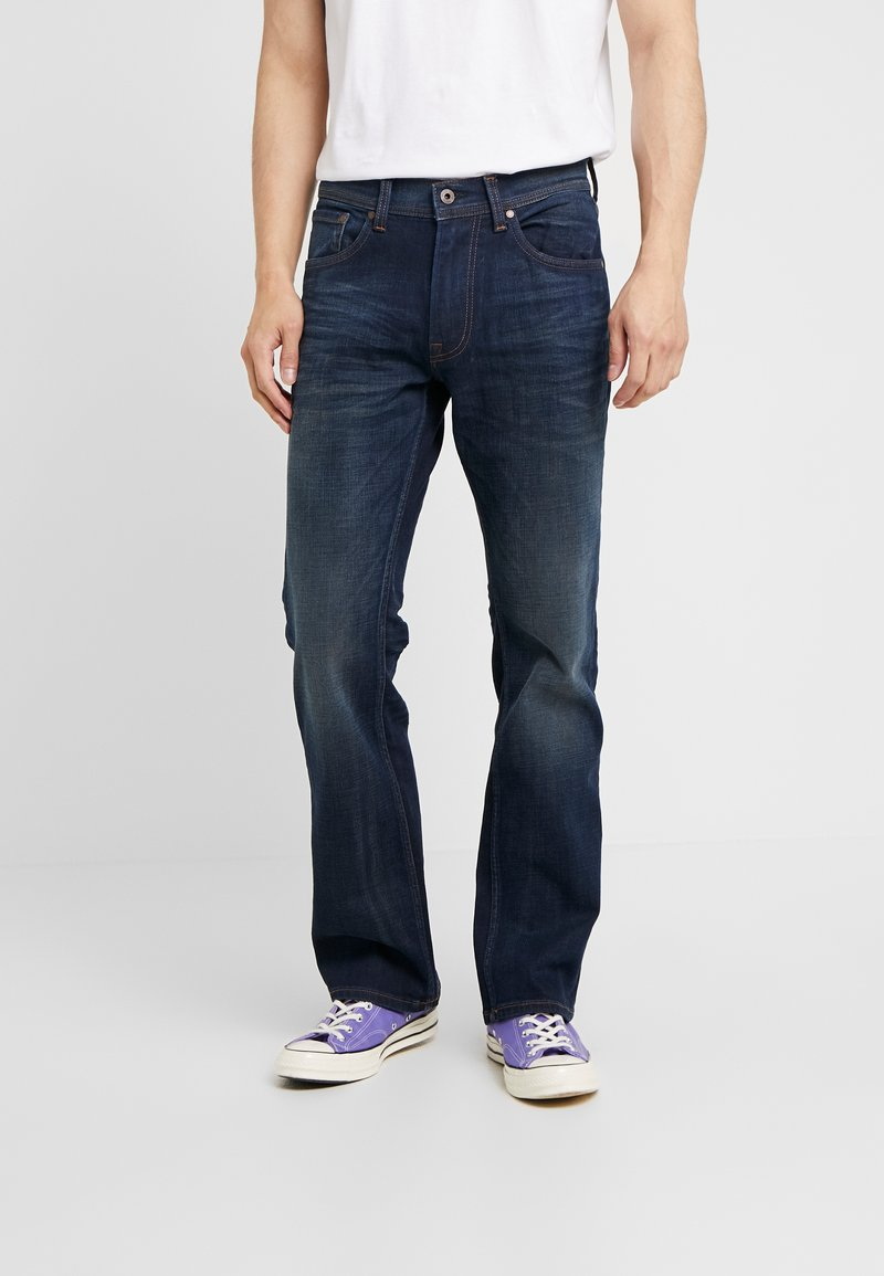 Pepe Jeans - ALFIE - Bootcut jeans - dark-blue denim