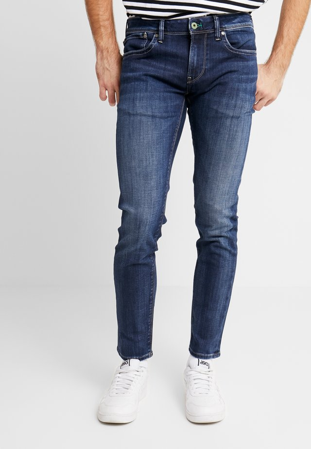 HATCH - Slim fit -farkut - dark used wiser wash