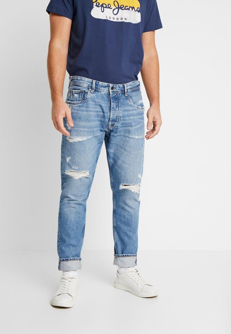 Pepe Jeans - CALLEN CROP - Jean boyfriend - wiser wash destroy med used