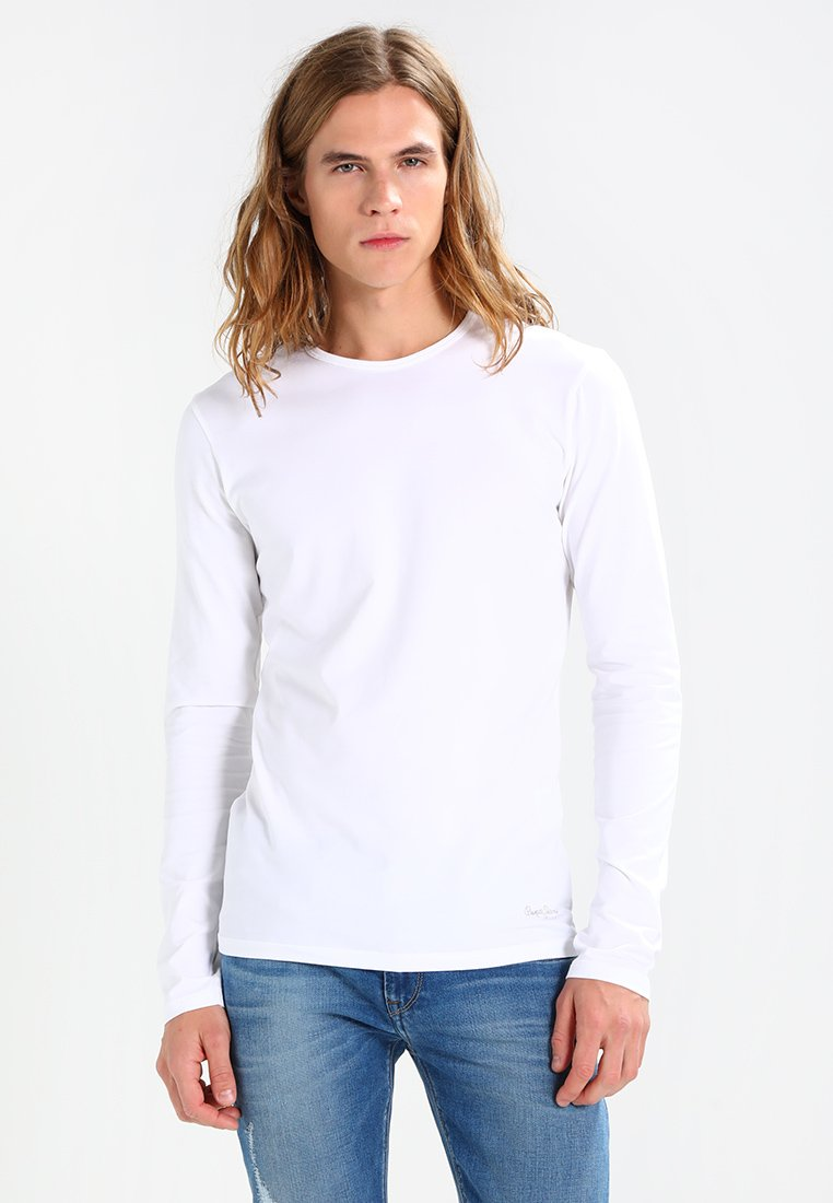 Pepe Jeans - ORIGINAL BASIC - Long sleeved top - white