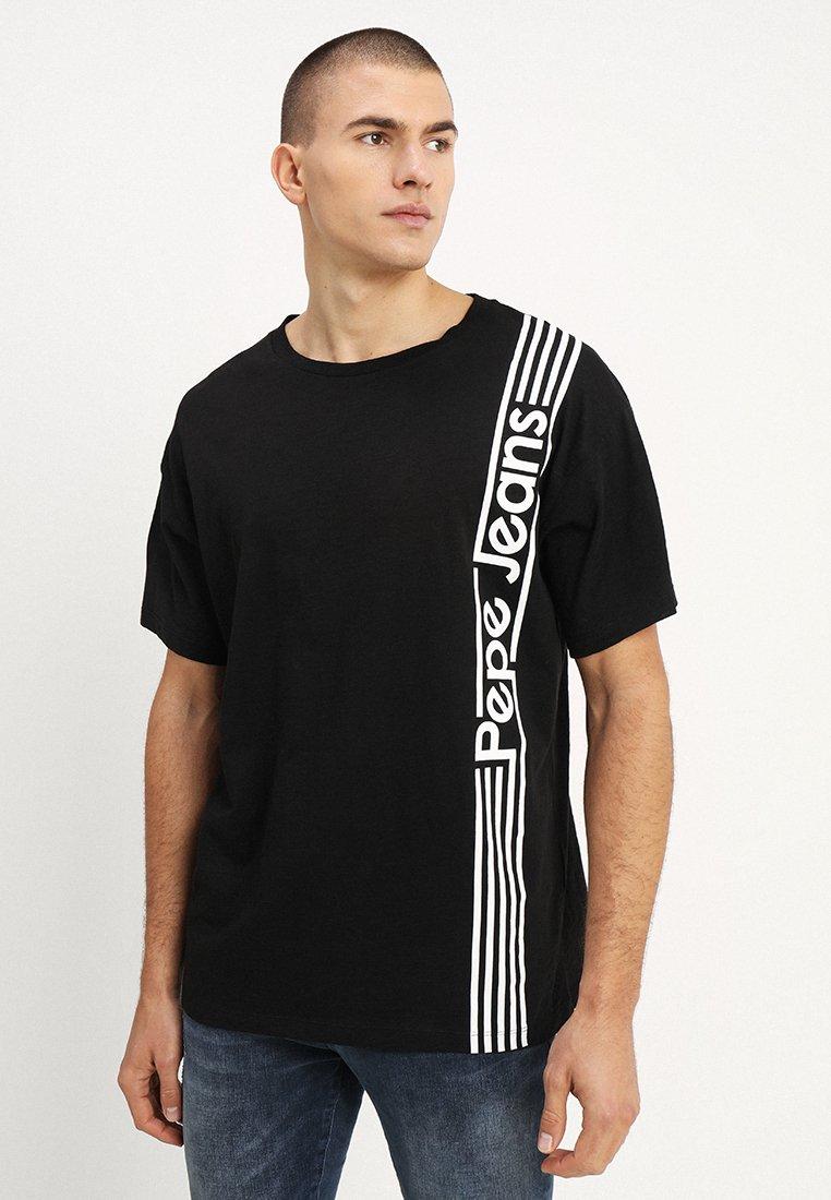 Pepe Jeans - DURHAM - Triko spotiskem - factory black