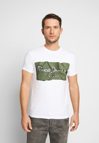 Pepe Jeans - RAURY - Camiseta estampada - safari - 0