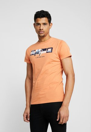 DEAN - T-Shirt print - washed orange