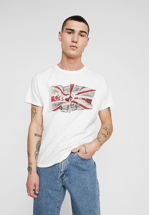FLAG LOGO - T-Shirt print - off white