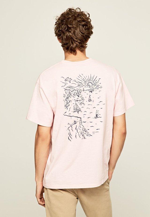 SCOTTIE - T-Shirt print - mauve