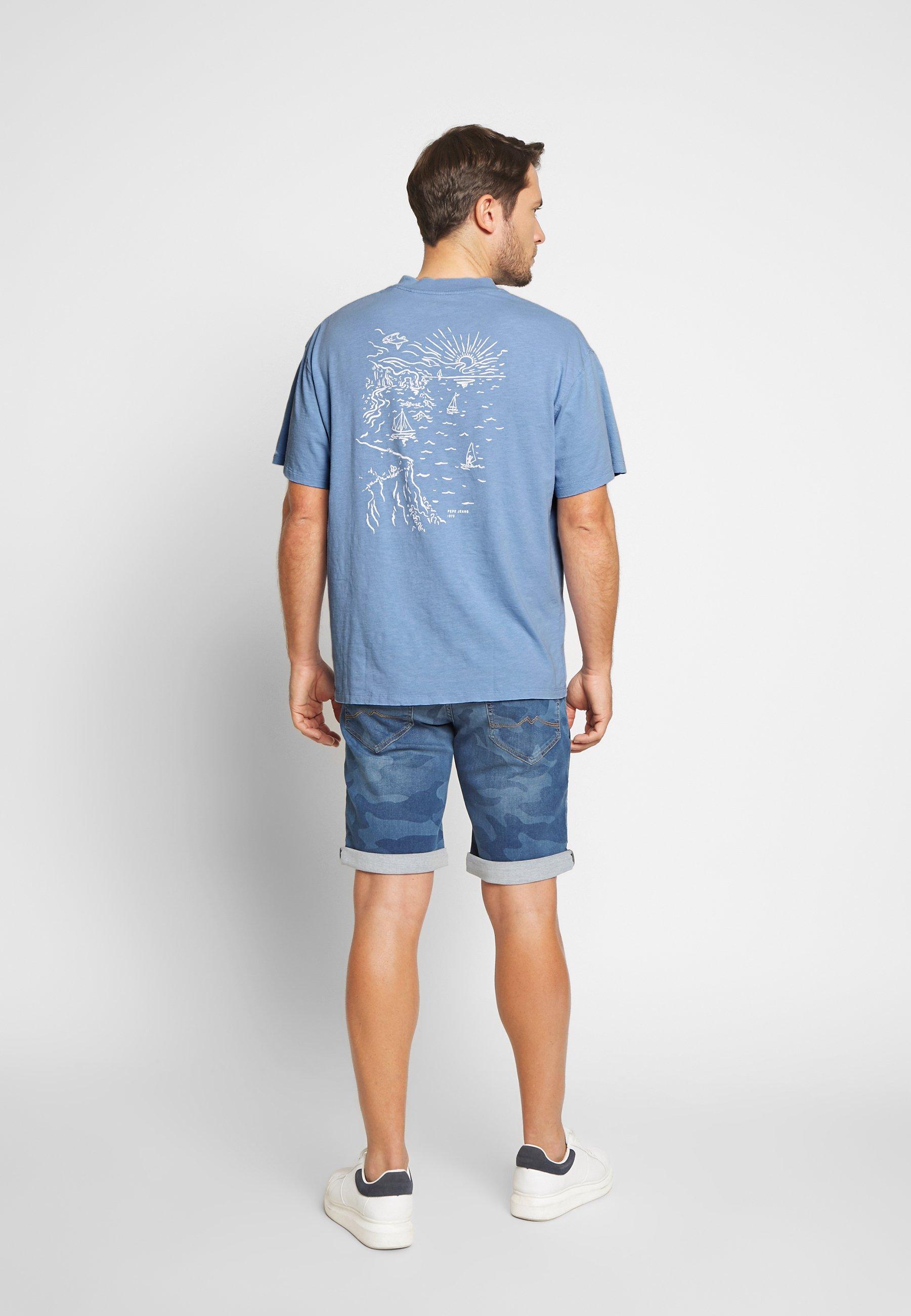 Pepe Jeans SCOTTIE - T-shirt z nadrukiem - bay