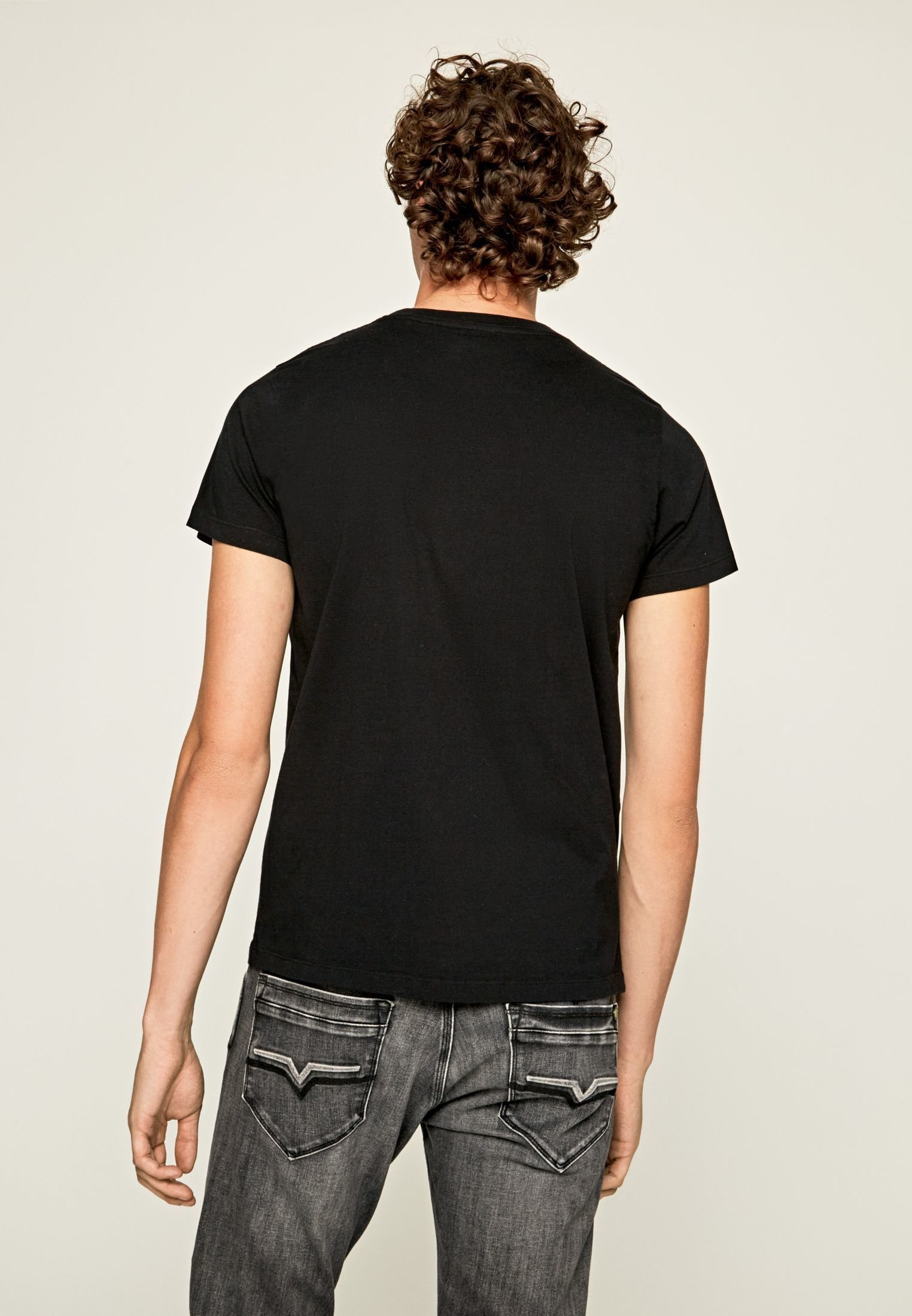 Pepe Jeans BLACKFORD - T-shirt con stampa - black