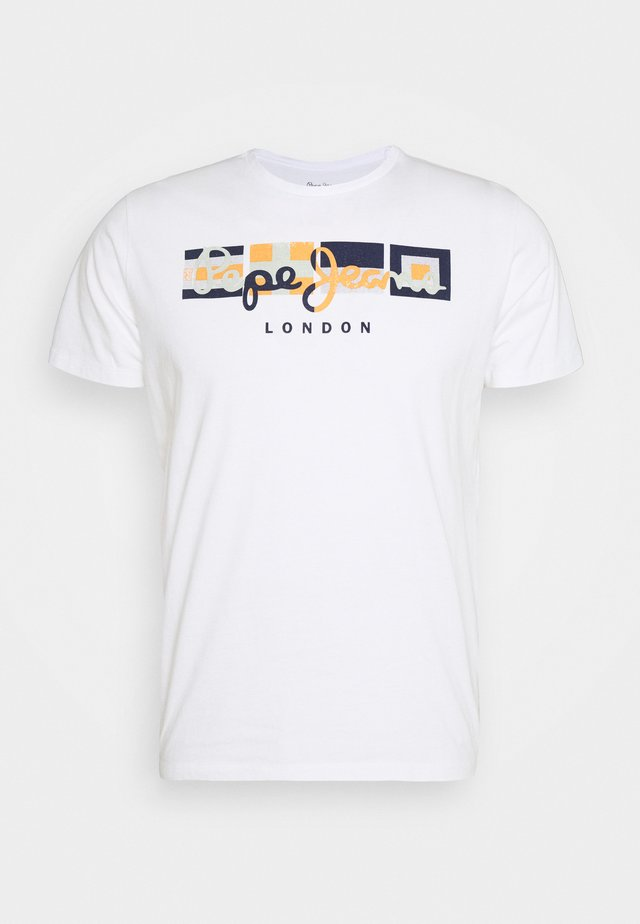 DEAN - T-shirt z nadrukiem - white