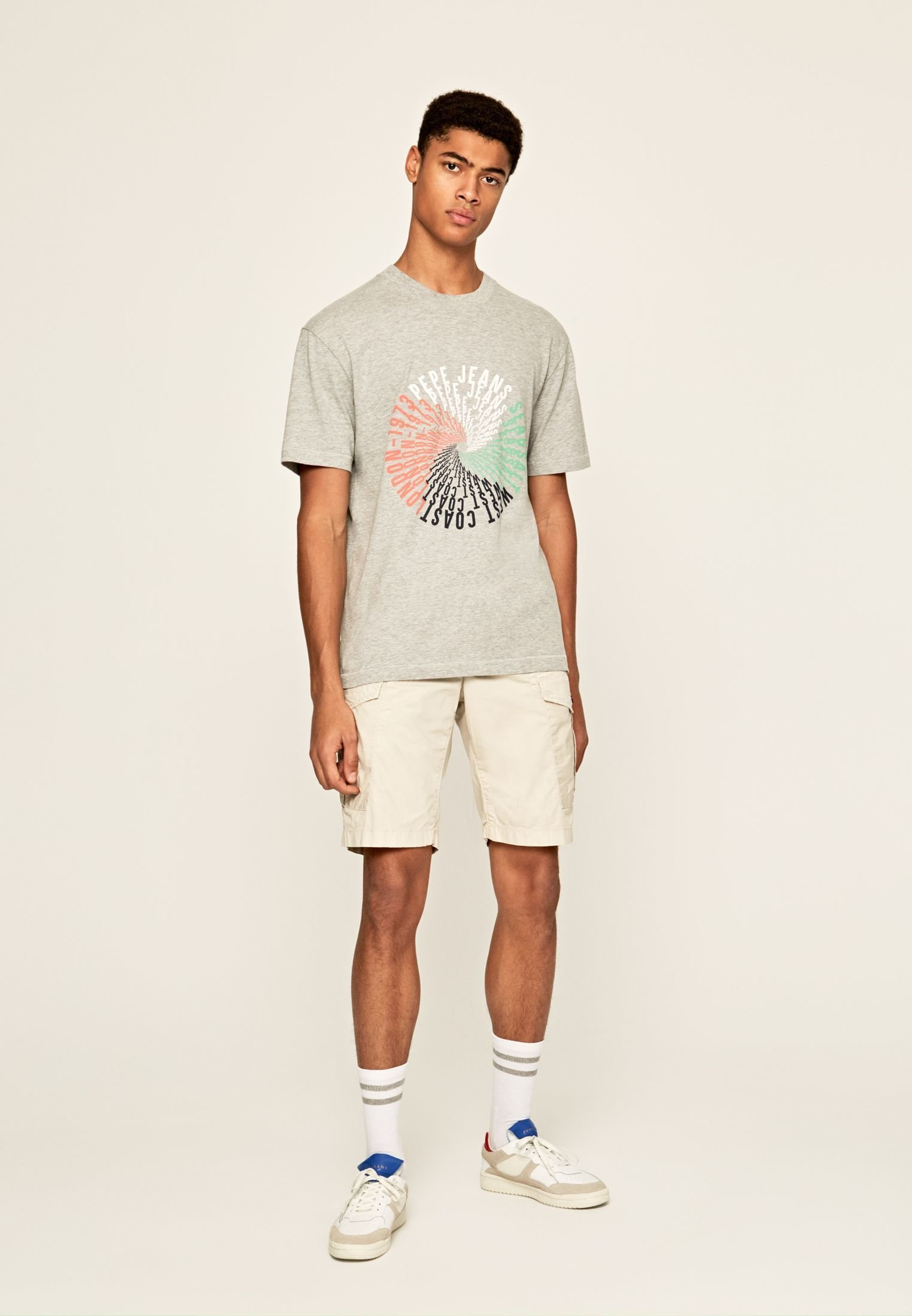 Pepe Jeans Marvin - T-shirt Con Stampa Gris Marl 5zVWwBU