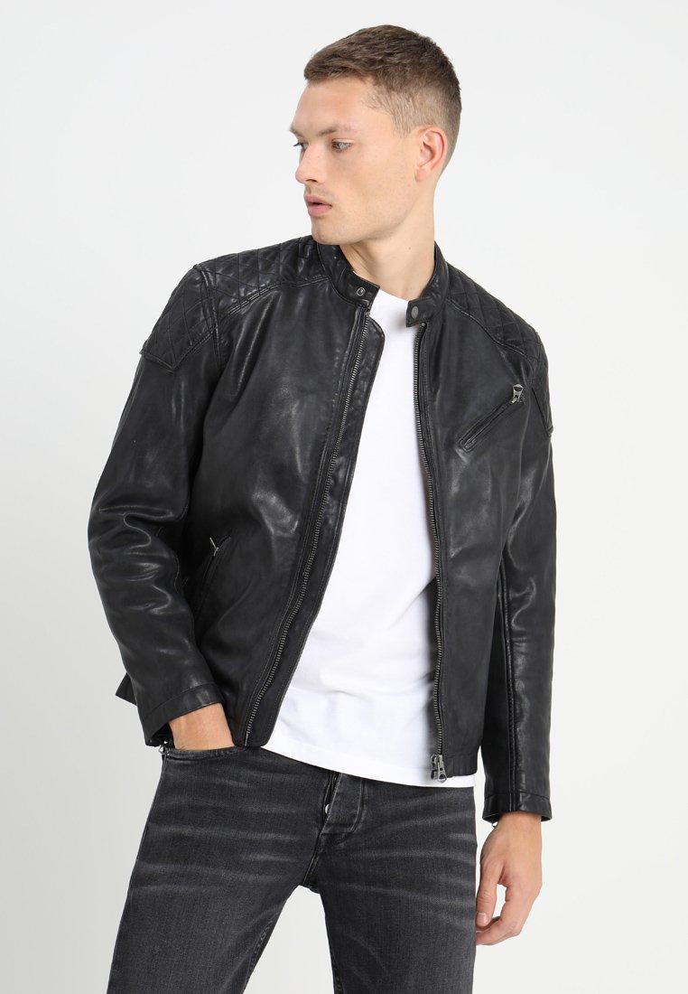 Pepe Jeans - DAMASCUS - Leather jacket - 999black